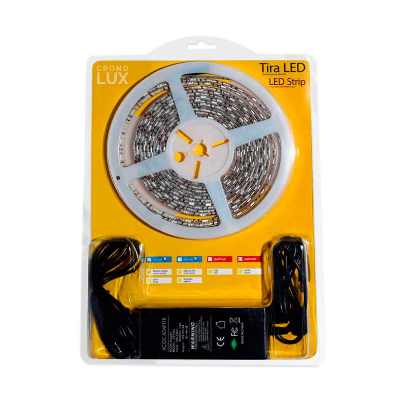 KIT tira LED flexible SMD3528, 5m (60 Led/m) - IP65, Blanco cálido